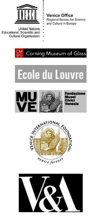 With the support of Corning Museum of Glass Ecole du Louvre Fondazione Musei Civici Venezia Institut national du patrimoine Venice Foundation Victoria & Albert Museum